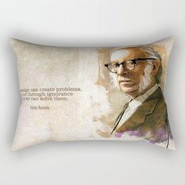 Isaac Asimov Portrait Rectangular Pillow