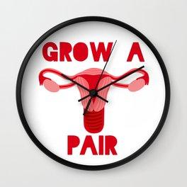 Grow A Pair Wall Clock