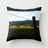 rustic Throw Pillows featuring Rustic by Blue Lightning Creative
