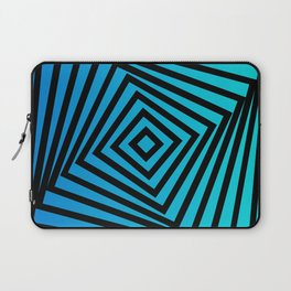 Squares twirling from the Center. Optical Illusion of Perspective bu Squares twirling Laptop Sleeve
