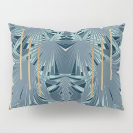 Tropical Art Deco 1.1a Blue, Green, Gold Pillow Sham