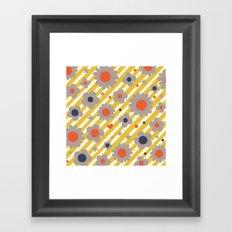 Punk Flower in Primary Framed Art Print