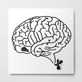 Brain Labyrinth Metal Print