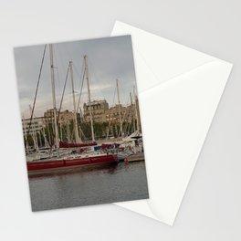 Barcelona Harbor Stationery Cards