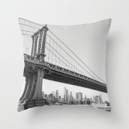 Manhattan Over Manhattan Throw Pillow