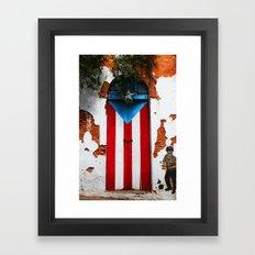 PUERTO RICO FLAG DOOR Framed Art Print