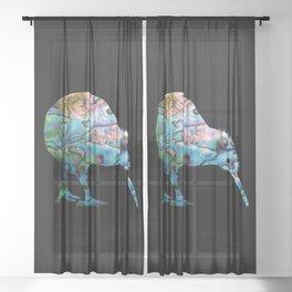NEW ZEALAND KIWI SIMPLE PAUA Sheer Curtain
