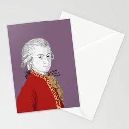 Mozart (Mauve Background) Stationery Cards