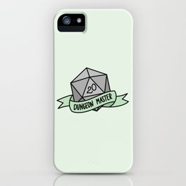 Dungeon Master D20 iPhone Case