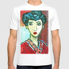 LADY MATISSE IN TEEN YEARS SMALL White Mens Fitted Tee