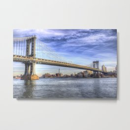 Manhattan Bridge New York Metal Print