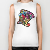 mad hatter Biker Tanks featuring Mad hatter by Ilse S