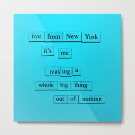 Live From New York Metal Print