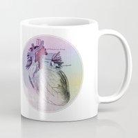artsy Mugs featuring artsy heartsy by Eric Um