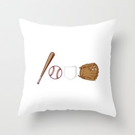 Unique Baseball Shirt For Sporty You T-shirt Design Field Bat Home Run Sports Pocket Gloves Throw Pillow