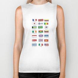 World traveler flags Biker Tank