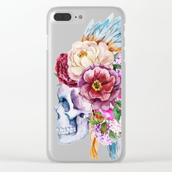 Skull 08 Clear iPhone Case