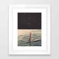 Drowned in space Framed Art Print