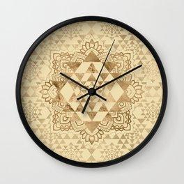 Sri Yantra  / Sri Chakra Pastel Gold Wall Clock