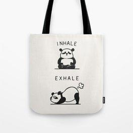 Inhale Exhale Panda Tote Bag