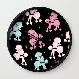 Poodlerama Wall Clock
