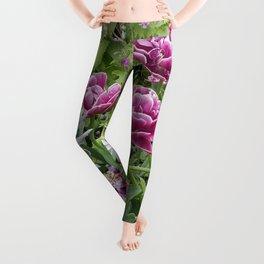Purple Tulips  Leggings