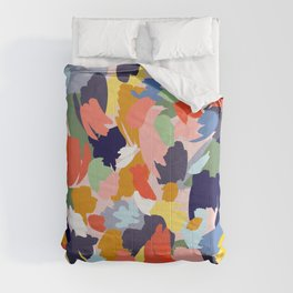 Bright Paint Blobs Comforters