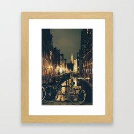 Amsterdam Bike Framed Art Print