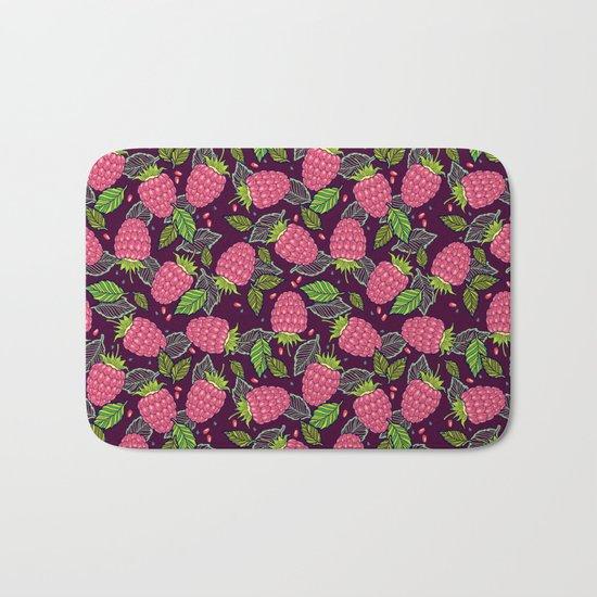 Juicy raspberries Bath Mat