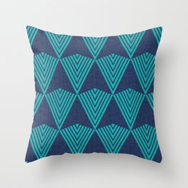 Arrows >>Navy+Turquoise Throw Pillow