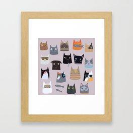 Cats comunity Framed Art Print