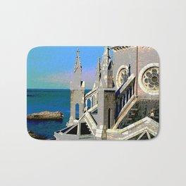 Church Overlooking the Ocean Bath Mat