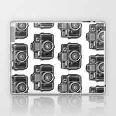 I Still Shoot Film Holga Logo - Black and White Laptop & iPad Skin