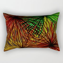 Anemones Aflame Abstract Marine Life Rectangular Pillow