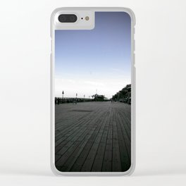 The Old Quebec City Terrasse Dufferin Boardwalk at Dusk Clear iPhone Case