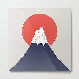 Cat Landscape 30 Metal Print