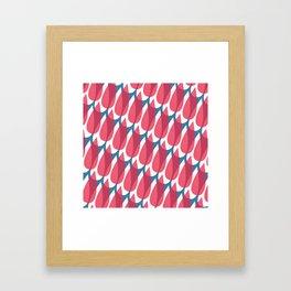 Red Drops Framed Art Print