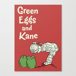 Green Eggs and Kane Canvas Print
