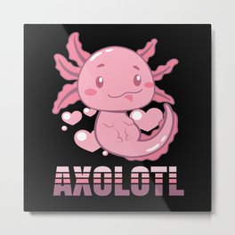 Axolotl Lurch Terrarium Metal Print