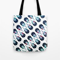 arya Tote Bags featuring Graphic Pattern - Geometric, Spacey, Angled by Hinal Arya