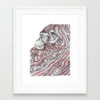 ape Framed Art Prints featuring Ape by Guillem Bosch