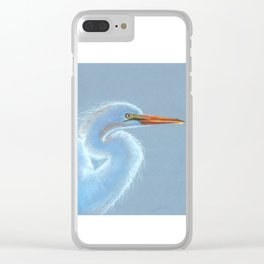 Snowy Egret Clear iPhone Case
