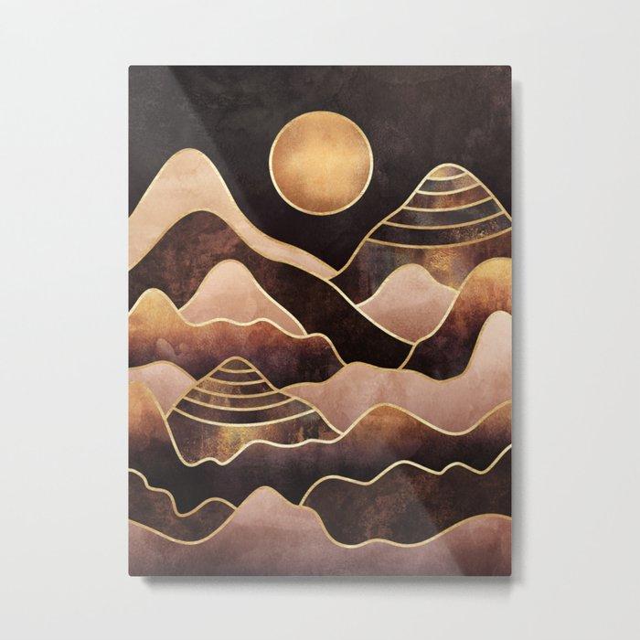 Sunkissed Mountains Metal Print