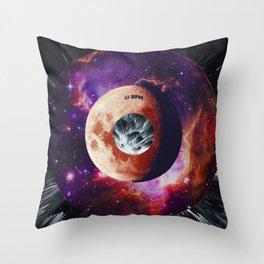 Space Music - Vinyl Single Throw Pillow