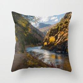 A View Along Colorado's Gunnison River Throw Pillow