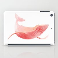 the whale iPad Cases featuring Whale by Adara Sánchez Anguiano