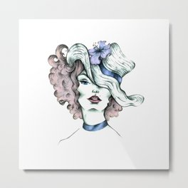 Orchid hat Metal Print