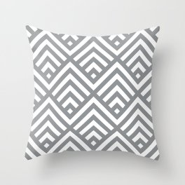 Ultimate Gray simple Art Deco striped Fans Throw Pillow