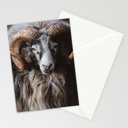 Portrait of a ram Stationery Cards