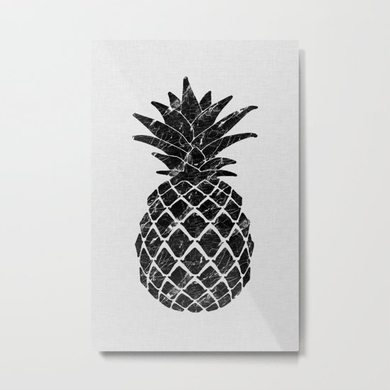 Pineapple Marble Metal Print